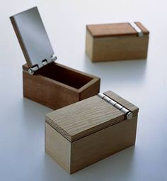 A tiny #wooden box. You can use this box for something small. Lovely