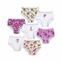 7 Pack Underwear, Little Girls' Minnie Mouse by Handcraft