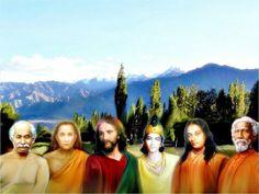Lahiri mahasaya, Mahavatar Babaji, jesus, Krishna, Paramahansa Yogananda, Sr Yukteswar.  Todos estos Gurús contribuyen al cumplimiento de la misión de Self-Realization Fellowship de ofrecer a toda la humanidad una ciencia espiritual práctica para alcanzar la unión con Dios.