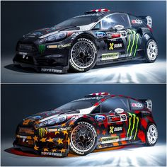Ken Block präsentiert das Design für Gymkhana EIGHT Ken Block and Hoonigan Racing Devision today unveiled the new design of his Ford Fiesta, which will once again star in one of his Gymkhana movies. Ken Block, Autos Rally, Rally Car, Ford Focus, Car Ford, Ford Trucks, Rougue One, Jaguar E Typ, Ford Motorsport