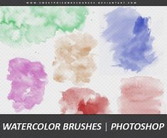 Watercolor Hand Drawn Photoshop Brushes