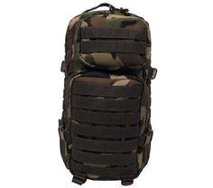 MFH US Rucksack, Assault I, woodland / mehr Infos auf: www.Guntia-Militaria-Shop.de