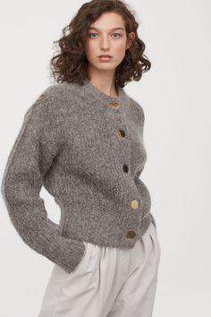 Chunky-knit wool cardigan