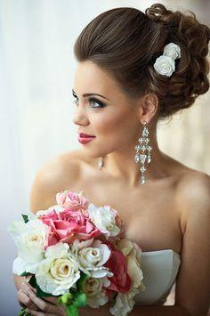 32 Prettiest Wedding Hairstyles - MODwedding Pretty wedding updo from Mod Wedding Mod Wedding, Wedding Updo, Wedding Day, Wedding 2015, Elegant Wedding, Trendy Wedding, Perfect Wedding, Bridal Updo, Bridal Rings