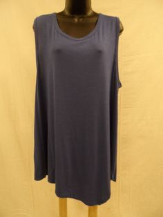 Plus Size 3X Top Shirt ASYMMETRICAL Blouse SOFT STRETCH Tank Sexy Trendy  NWT #ExtraTouch #KnitTop