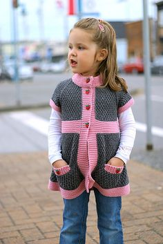 Ravelry: Pepper pattern by Elena Nodel. This is knitted, but I think I could work it out in crochet! Knitting For Kids, Baby Knitting Patterns, Baby Patterns, Hand Knitting, Simple Knitting, Knitting Projects, Crochet Projects, Crochet Cardigan, Knit Or Crochet