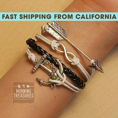 Bracelet, Infinity Bracelet, Infinity Wish Bracelet, Anchor Bracelet, Arrow Bracelet, Friendship Bracelet - 155