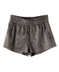 Faux Suede Shorts