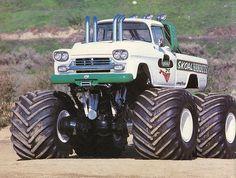 This is the Skoal Bandits monster truck from the Hot Rod Trucks, Custom Trucks, Semi Trucks, Lifted Trucks, Cool Trucks, Chevy Trucks, Pickup Trucks, Redneck Trucks, Chevy 4x4