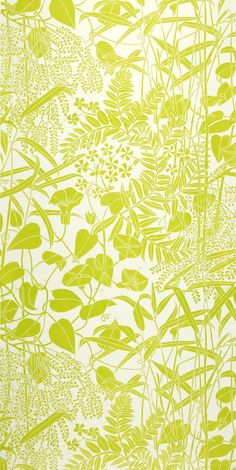 WORK 27 (WALLPAPER COLLECTION) Marthe Armitage, Bamboo, hand printed wallpaper from lino blocks, c. 1980s. All images © the artist.