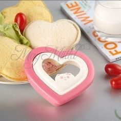 DIY Cute Tools Plastic Pink Heart Sandwich Maker Bread Cake Mold Cutter New H #UNBrand