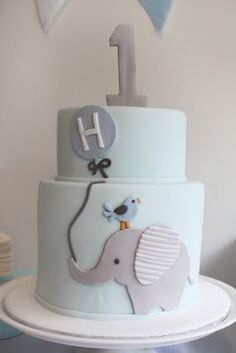 Elephant Cake baby-boy-themes