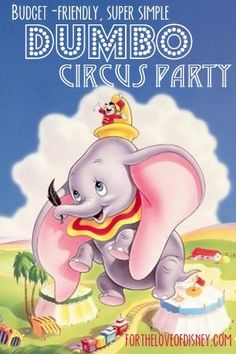 Disney Family Day: Dumbo Circus Party Ideas, recipes, decor and more to throw a super fun Dumbo or Circus themed birthday party, movie night, or themed dinner! Movie Night Party, Family Movie Night, Family Day, Movie Nights, Party Time, Disney Family Movies, Disney Movie Posters, Disney Characters, Dumbo's Circus