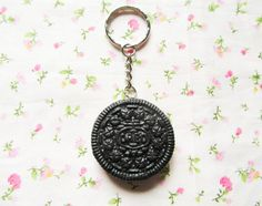 Realistic Oreo Cookie Keychain Kawaii Keychain Cute by KawaiiKiosk