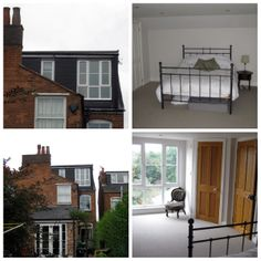 Dormer Loft Conversion on a town house with a large window to make a bright spacious bedroom.