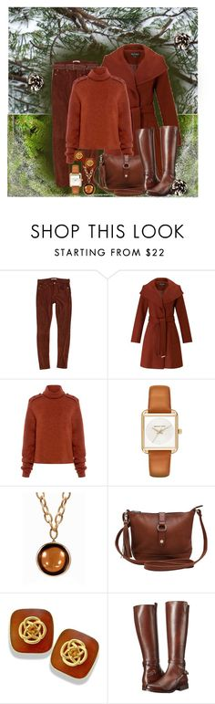 """""""Brown Winter Outfit"""" by lois-boyce-flack ❤ liked on Polyvore featuring 7 For All Mankind, Miss Selfridge, TIBI, Michael Kors, Goshwara, M&Co, Frye and rag & bone"""