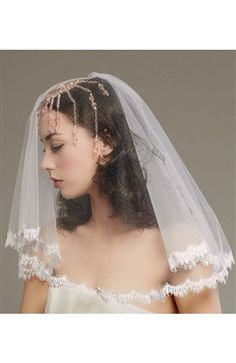 One Tier Flyaway Wedding Veil