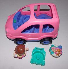 Fisher Price Little People Family Car Van Musical Pink  #FisherPrice