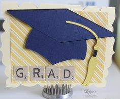 We loved seeing all your awesome cards for our last challenge! The WINNER of Cricut Cardz Challenge Graduation Cards Handmade, Graduation Diy, Preschool Graduation, Graduation Parties, Graduation Decorations, Graduation Invitations, Handmade Cards, Pop Up Greeting Cards, Pop Up Box Cards