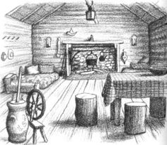 Garth Williams Little House Illustrations. Laura Ingalls taught me that you need very little in the way of possessions to have a full and happy life.