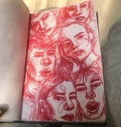 Love this sketchbook inspiration, 2019 art sketchbook, drawings ve art draw Arte Sketchbook, Aesthetic Art, Aesthetic Drawing, Aesthetic Painting, Aesthetic Outfit, Aesthetic Clothes, Sketchbook Inspiration, Sketchbook Ideas, Sketchbook Layout