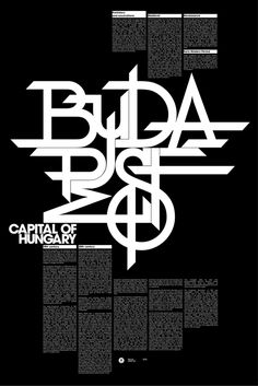 typographic posters by Áron Janscó.    Thought this might be a cool inspiration for a poster someone might do.