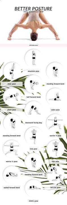 Sequencia de YOGA essencial ! Try these yoga corrective poses to strengthen and stretch your back muscles and improve spinal alignment! This 10 minute yoga flow is designed to help you stand tall and become aware of your posture. Tente estas poses corretivas de yoga para fortalecer e esticar os músculos das costas e melhorar o alinhamento da coluna vertebral! Este fluxo de yoga 10 minutos é projetado para ajudá-lo a ficar alto e tornar-se consciente de sua postura.http://www.spotebi.co...