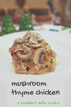 Easy, fast, healthy, delicious mushroom thyme chicken thighs! These were so good!! Bone In Chicken Recipes, Chicken Thighs, Main Dishes, Stuffed Mushrooms, Good Food, Cooking Recipes, Faith, Group, Dinner