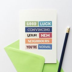 New House Card | New Home | Congratulations | Moving House | Housewarming… New House Card, House Of Cards, House Gifts, New Home Gifts, Congratulations New Home, New Home Greetings, Housewarming Card, House Funny, Happy New Home
