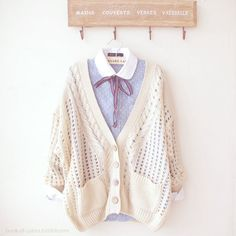 "It's winter pastel fashion! It's so cute, the way the hues reflect the season. :"")"