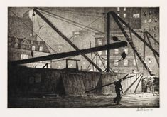 Martin Lewis - Moonlight Etchings of the Forgotten Artist who Taught Edward Hopper Rockwell Kent, Norman Rockwell, Edward Hopper, Anselm Kiefer, Greenwich Village, Haunted Tree, Williamsburg Bridge, Just Magic, Success And Failure