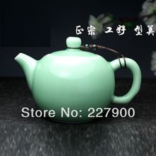 Collectible Green Longquan Celadon Porcelain Antique Small Kung Fu Teapot For One Person(China (Mainland))