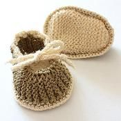 Baby Booties Purl and Knit - via @Craftsy