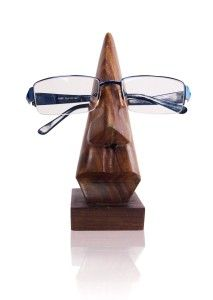 8702cf63fdc Valentines Day Gift Decorative Stylish Handmade Nose Shaped Wooden Spectacles  Eyeglass Holder Stand Gift Ideas for Men. Kind of cool for a guy who  misplaces ...