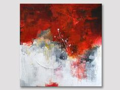 Original extra large abstract textured square painting modern