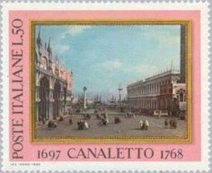 """Painting """"The square"""" of Canaletto"""