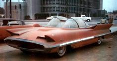 In the early 60's George Barris of Barris Kustom City bought the 1955 Lincoln Futura concept car from Ford for one dollar and it lay in his back lot getting dusty & rusty.
