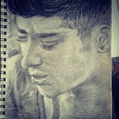 Zayn Malik Portret :)  #zaynmalik #onedirection #love #art #sketch #drawing #pencil #charcoal #zayn #hot #male #guy
