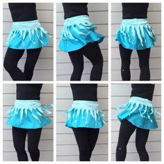 Elsa Inspired Icicle Running Skirt by runthekingdom on Etsy https://www.etsy.com/listing/238175805/elsa-inspired-icicle-running-skirt