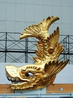 Nagoya Castle | File:Nagoya Castle Golden Shachi-Hoko Statue04.jpg