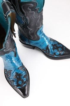 Ethos Custom Brands - Blue Gator Boots Boots & Belts - Hand-crafted Leather Products. Ethos Custom Boots designed and handmade by Chad Little.