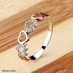 Vintage engagement rings & wedding rings at Ericdress deserve buying. Cheap diamond engagement rings for women and various mothers rings here will seize your heart. Trendy Fashion Jewelry, Fashion Rings, Women's Fashion, Fashion Styles, Fashion Necklace, Fashion News, Fashion Online, Fashion Outfits, Fashion Design