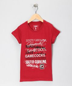 Take a look at this Red 'South Carolina' Glitter Ava Tee by Campus Cutee on #zulily today!