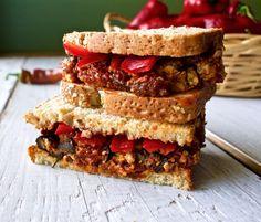 Italian Stuffed Meatloaf sandwich by HomemadeFoodJunkie.com