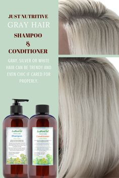 Sulfate-free Brightening Shampoo for Gray and Silver Hair   Gray hair can turn yellow as residue that is left on  your hair from other products can make hair look  brassy and dull.