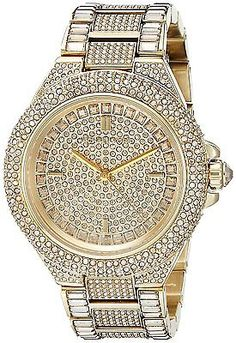 a0794a17f17a Michael Kors Women s Camille Gold-Tone Crystal Watch     Visit the image  link more details.