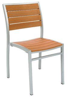 Florida Seating Commercial Aluminum Outdoor Restaurant Chair - Bar ...