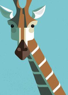 Design / Retro Modern African Mammal Illustrations My Modern Metropolis