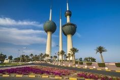 size: Photographic Print: Landmark Kuwait towers in Kuwait City, Kuwait, Middle East by Michael Runkel : Most Beautiful, Beautiful Places, Beach Landscape, Ways Of Seeing, Middle East, Find Art, Framed Artwork, National Parks, City