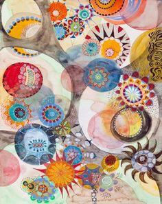 trippy, awesome  Melinda  Hackett - Watercolor _7
